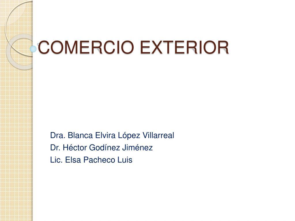 comercio exterior l.