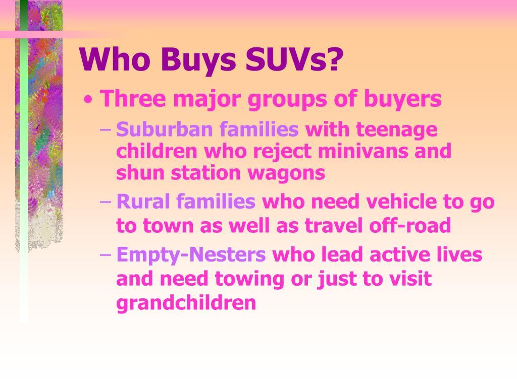 Who Buys SUVs?