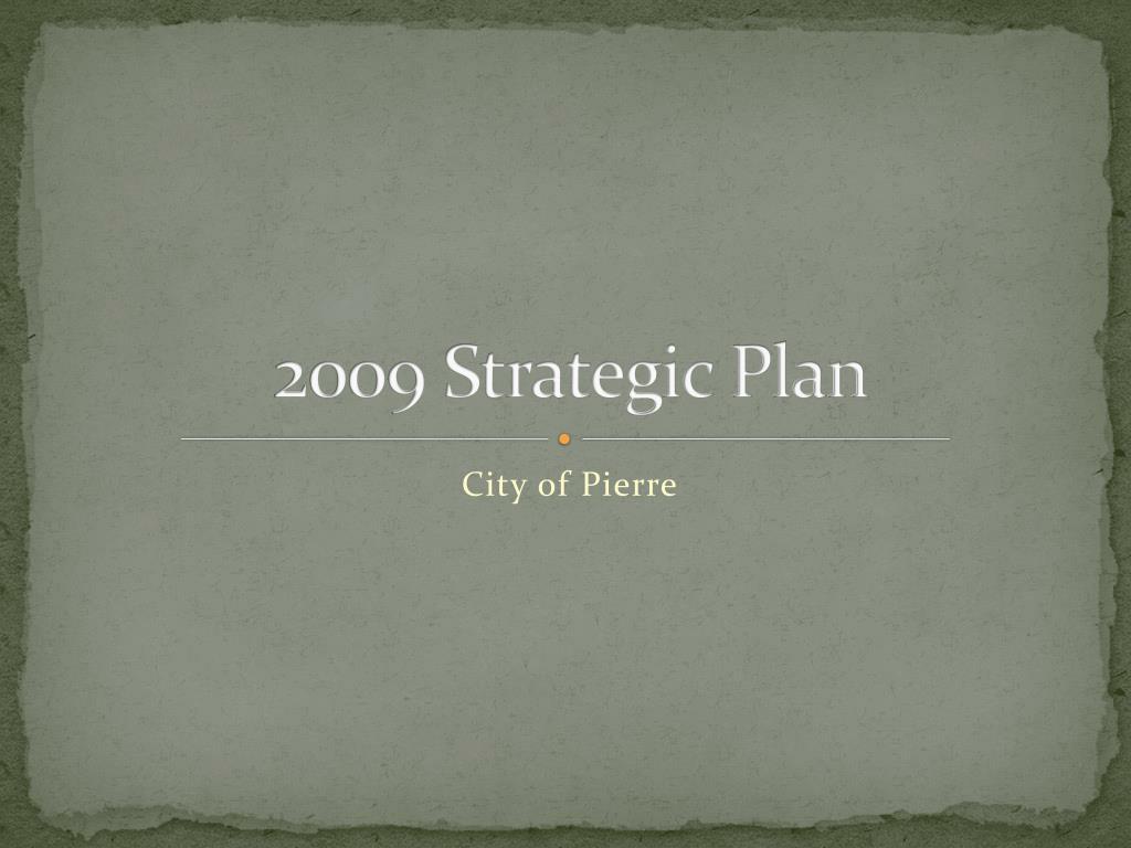 2009 strategic plan l.