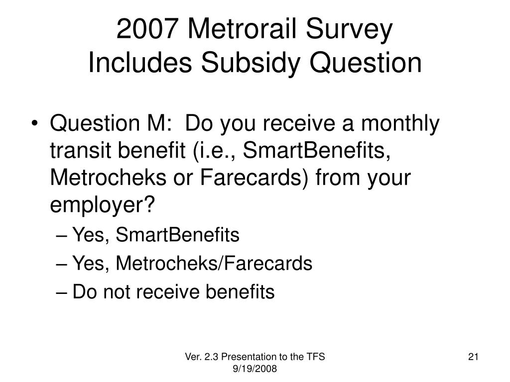 2007 Metrorail Survey