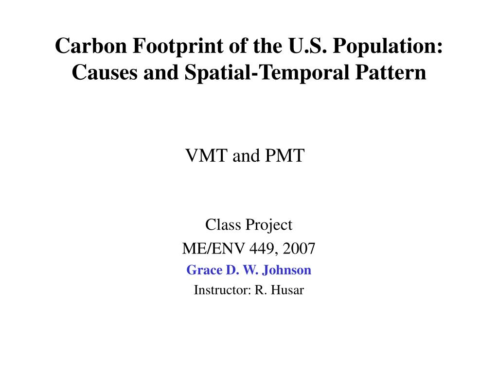 carbon footprint of the u s population causes and spatial temporal pattern l.