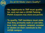 do all alt mode users qualify
