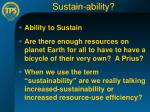 sustain ability