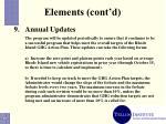 elements cont d13