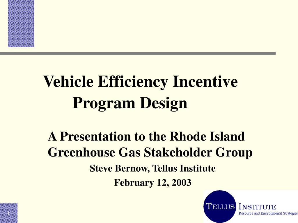 vehicle efficiency incentive program design l.