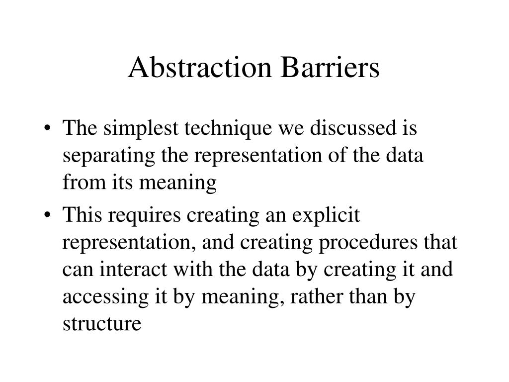 Abstraction Barriers