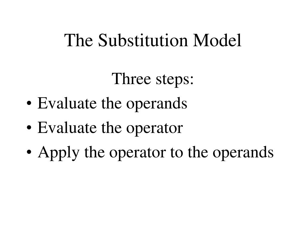 The Substitution Model
