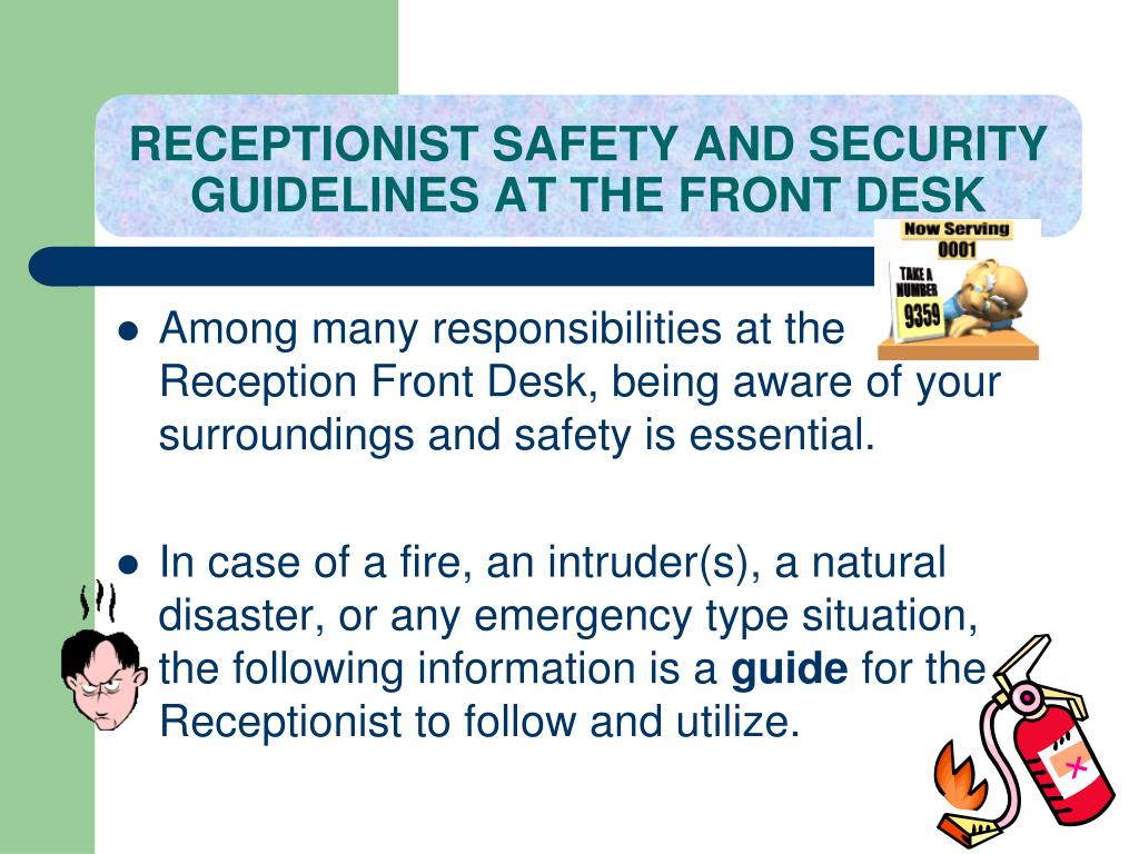 ppt - receptionist safety powerpoint presentation  free download