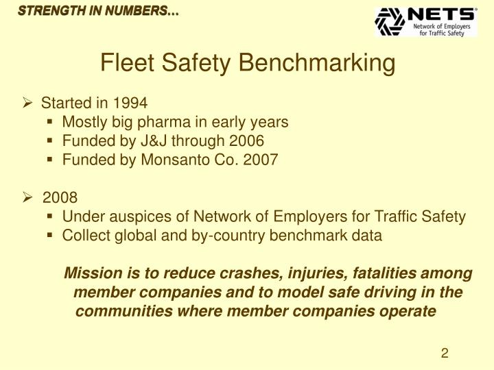 Strength in numbers fleet safety benchmarking