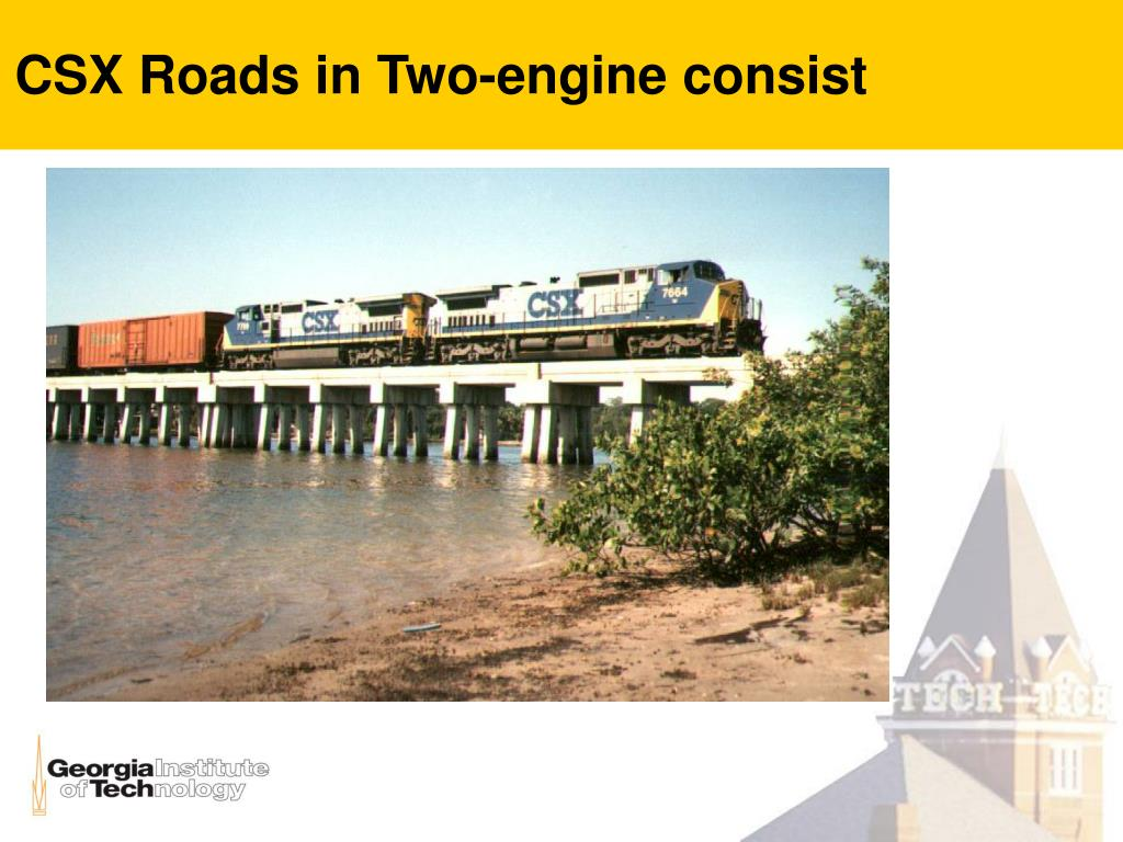 CSX Roads in Two-engine consist
