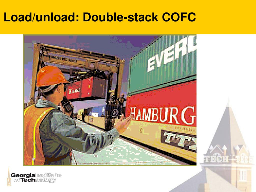 Load/unload: Double-stack COFC