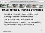 driver hiring training standards