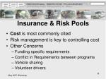 insurance risk pools