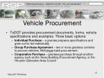 vehicle procurement