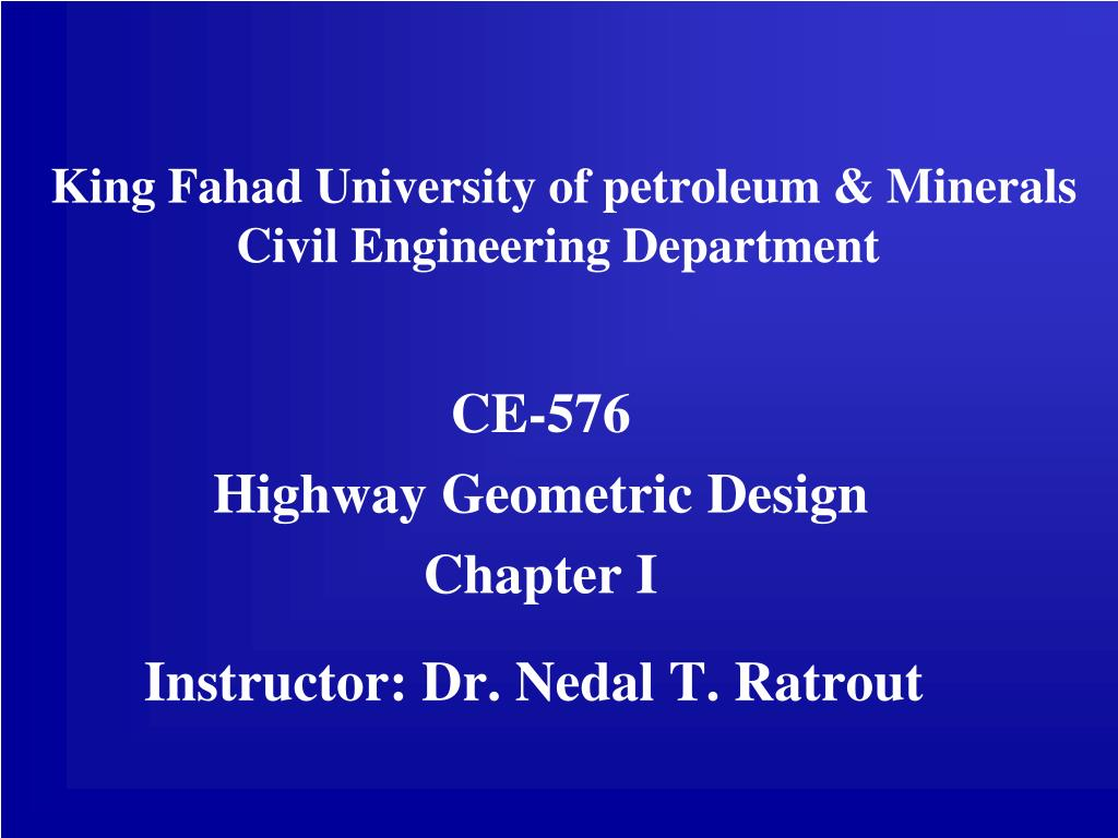 king fahad university of petroleum minerals civil engineering department