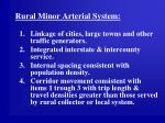 rural minor arterial system