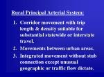 rural principal arterial system