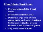 urban collector street system