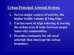 urban principal arterial system