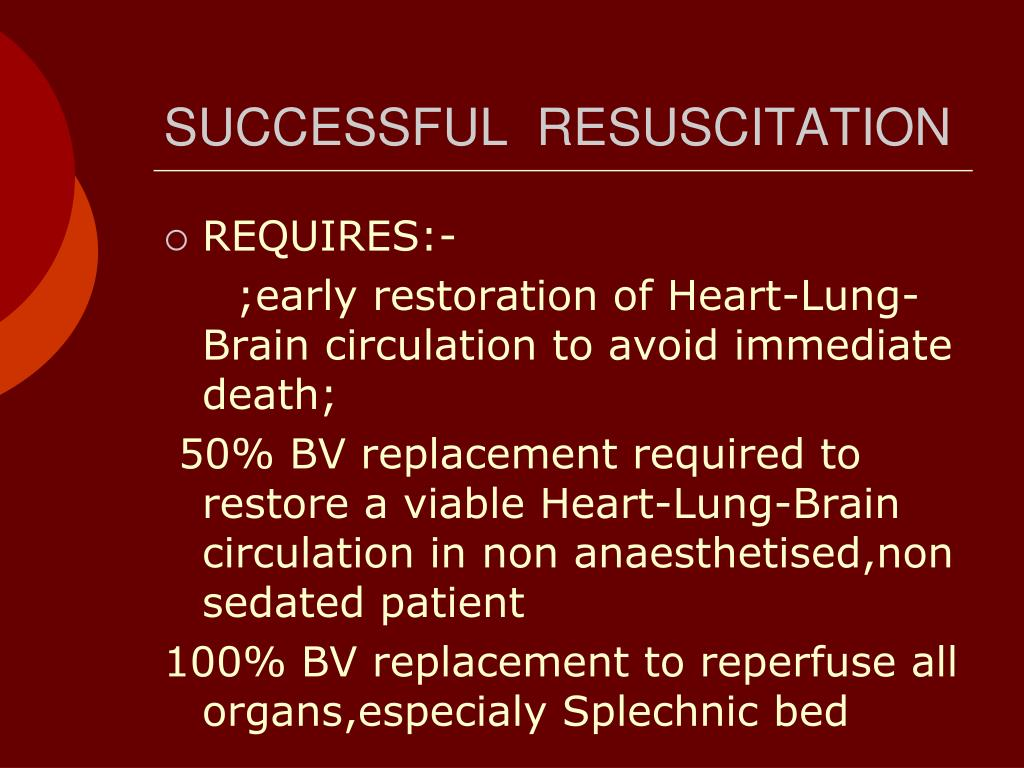 SUCCESSFUL  RESUSCITATION