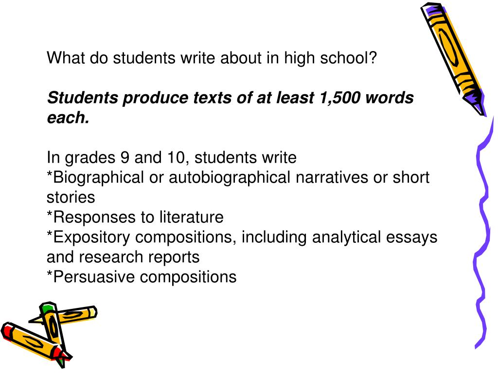 What do students write about in high school?