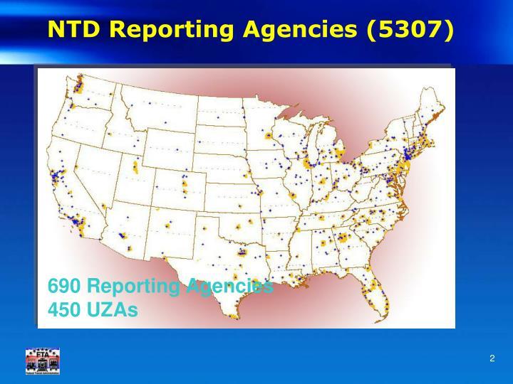 Ntd reporting agencies 5307