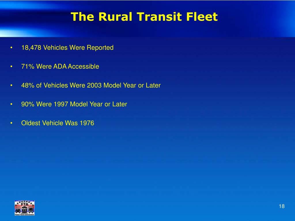 The Rural Transit Fleet