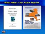 what data your state reports