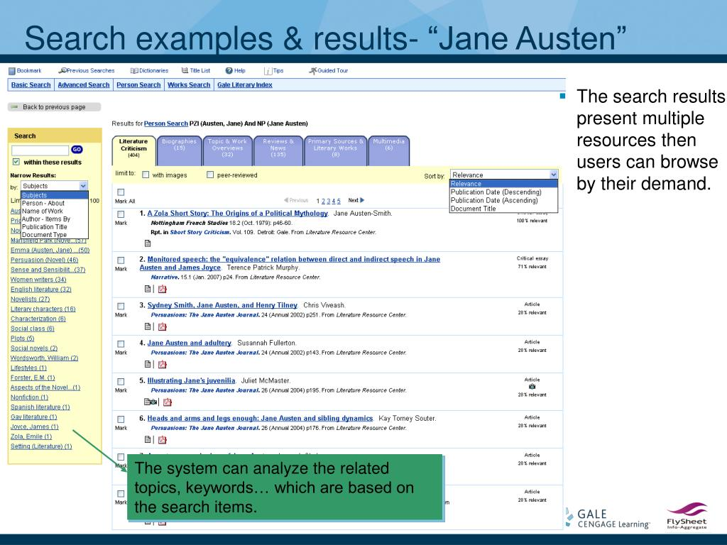"""Search examples & results- """"Jane Austen"""""""