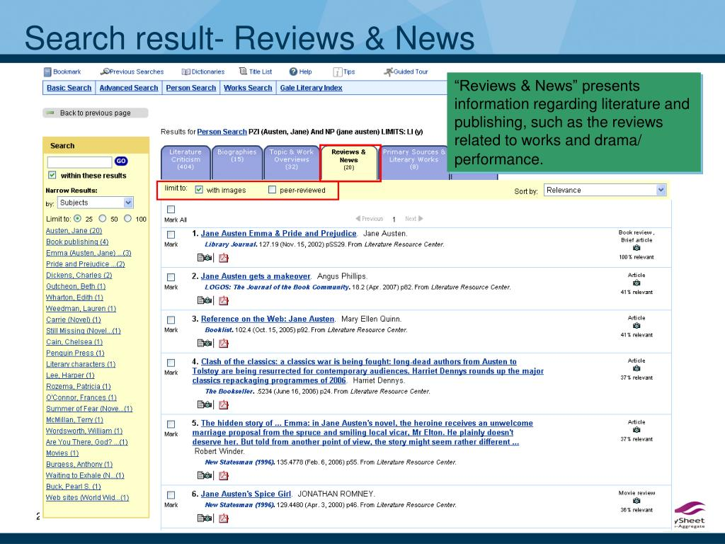 Search result- Reviews & News