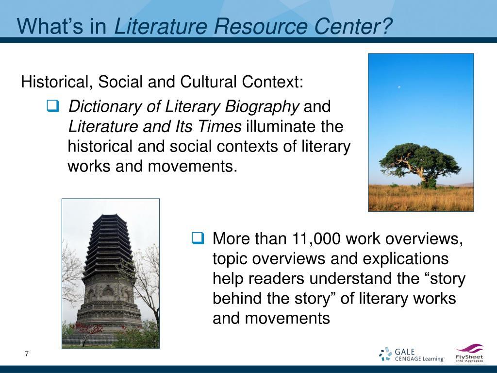 Historical, Social and Cultural Context: