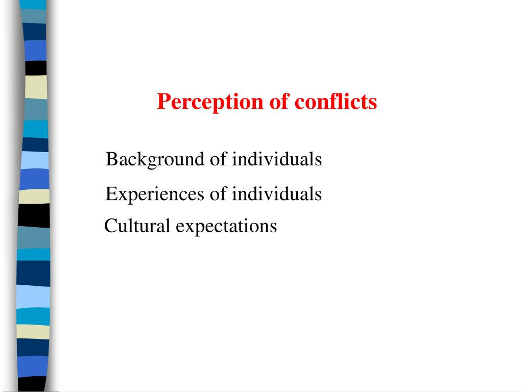Perception of conflicts