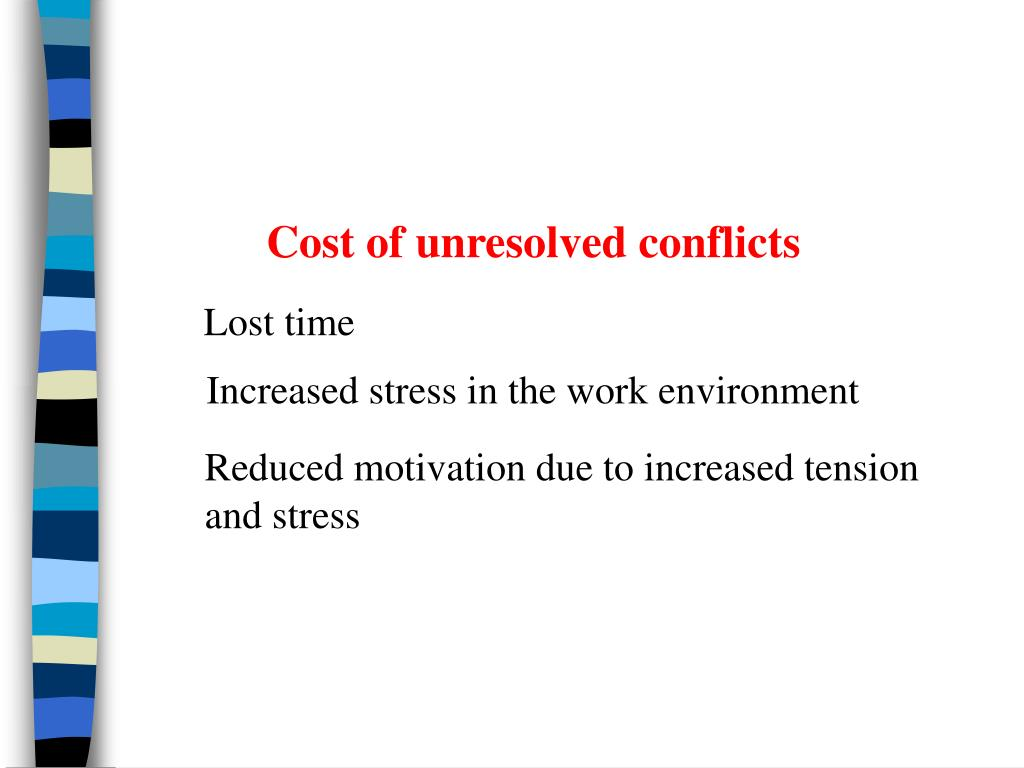 Cost of unresolved conflicts