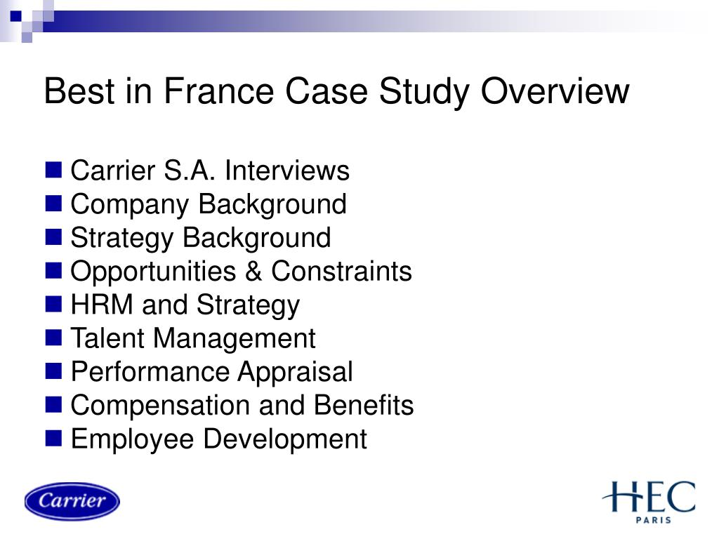 Best in France Case Study Overview