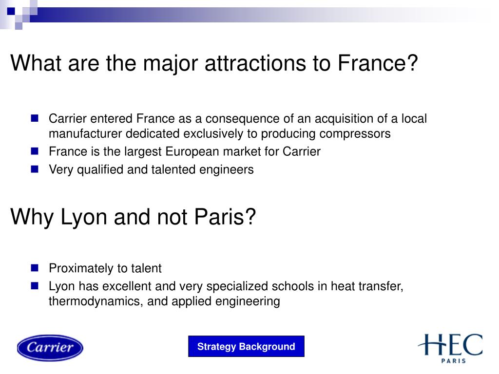 What are the major attractions to France?