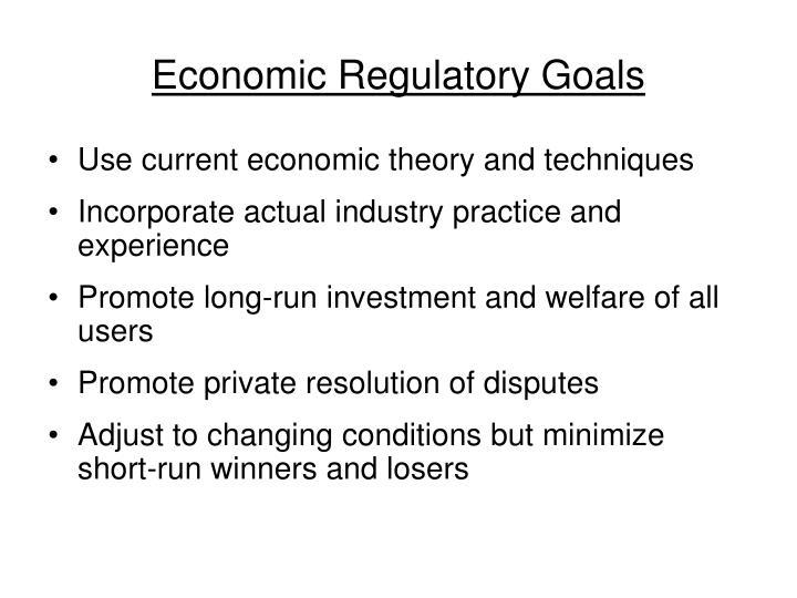 Economic regulatory goals