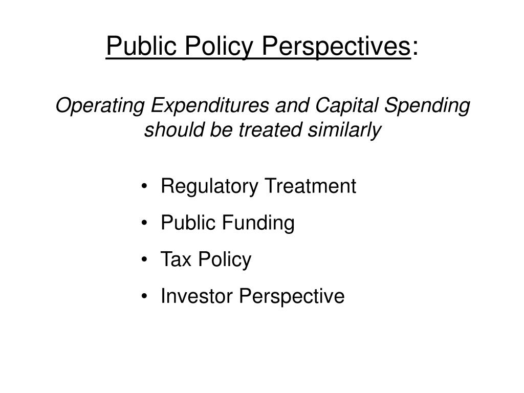 Public Policy Perspectives