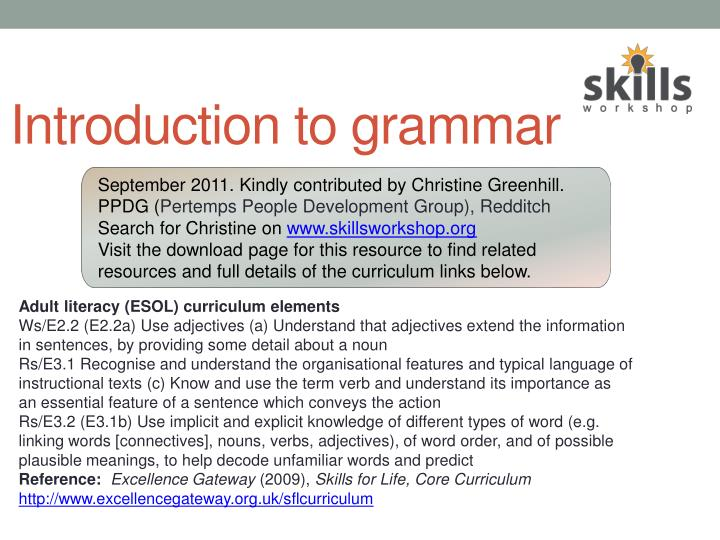introduction to grammar n.