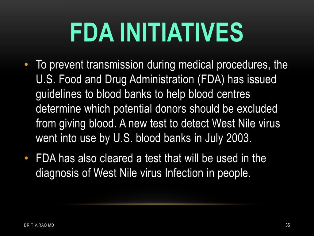 Fda initiatives