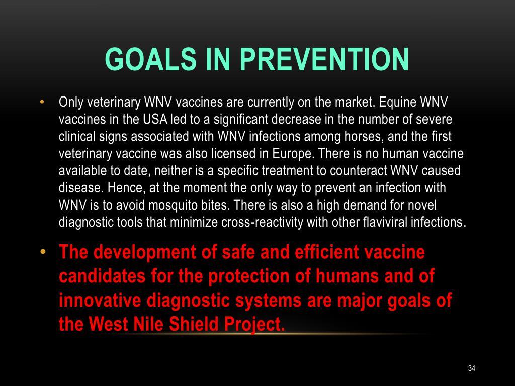Goals in prevention