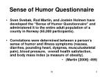 sense of humor questionnaire