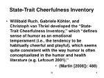 state trait cheerfulness inventory