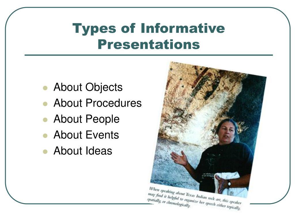 Types of Informative Presentations