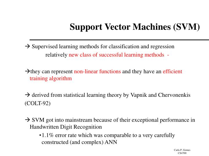 Support vector machines svm