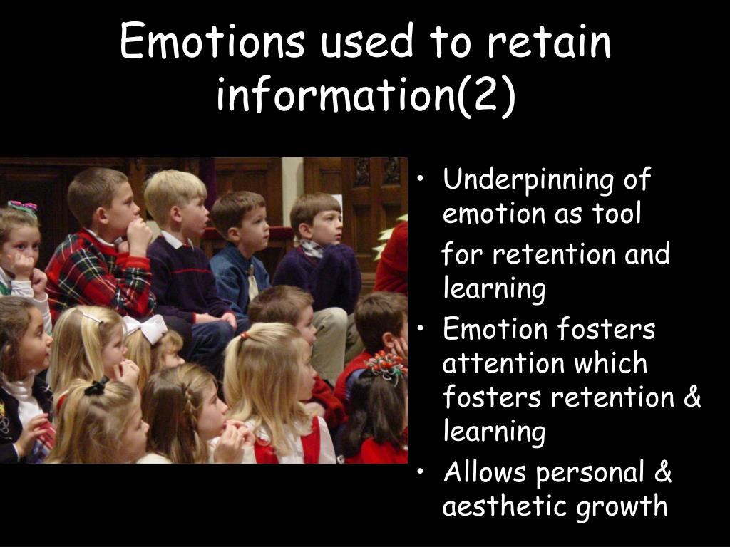 Emotions used to retain information(2)