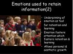 emotions used to retain information 2
