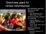 emotions used to retain information