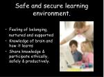 safe and secure learning environment8