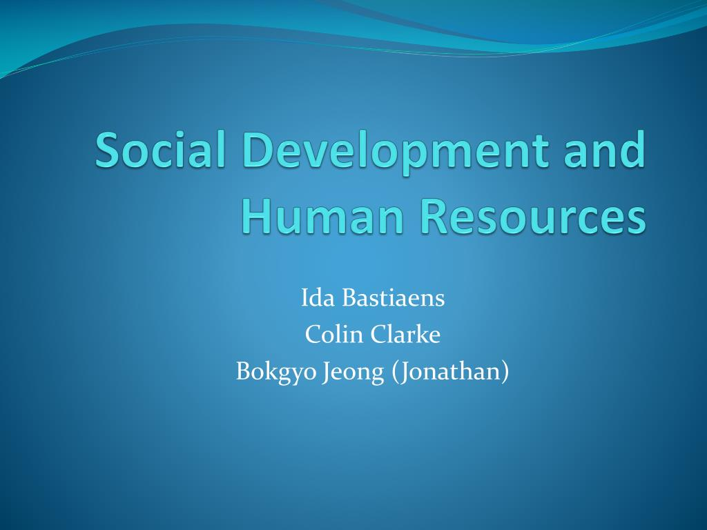 social development and human resources l.