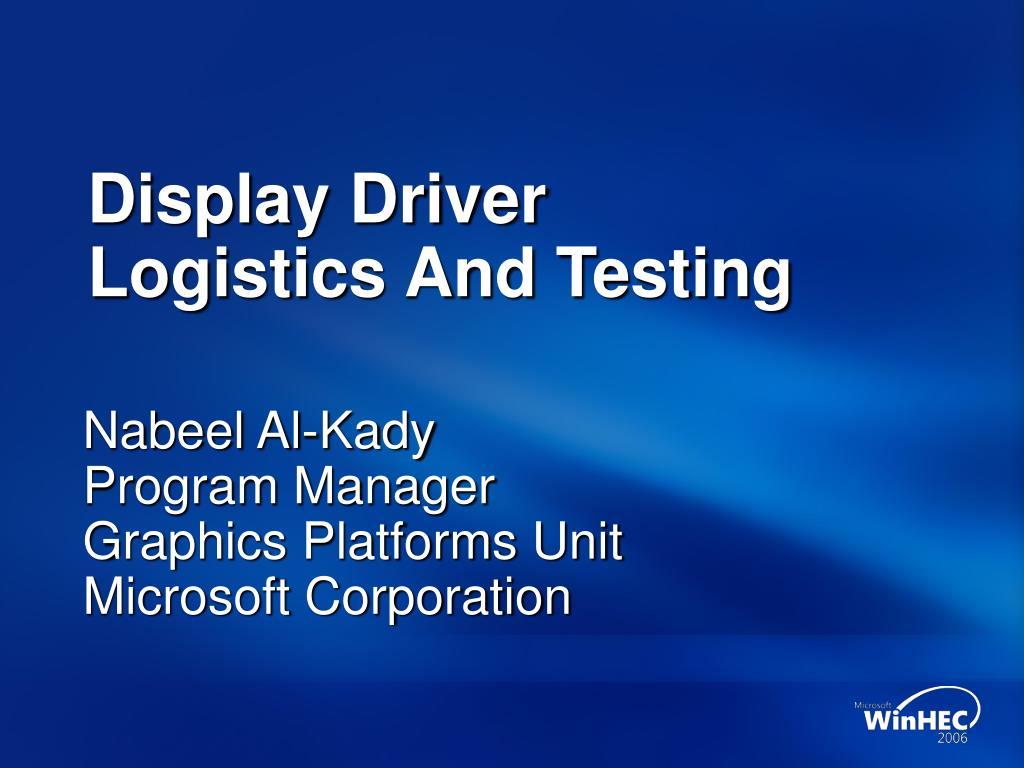 Display Driver